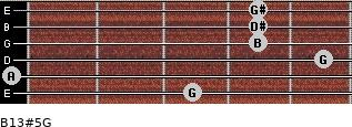 B13#5/G for guitar on frets 3, 0, 5, 4, 4, 4