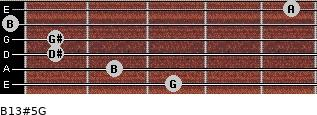 B13#5/G for guitar on frets 3, 2, 1, 1, 0, 5