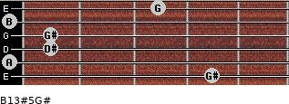 B13#5/G# for guitar on frets 4, 0, 1, 1, 0, 3
