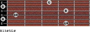 B13#5/G# for guitar on frets 4, 0, 1, 4, 0, 3
