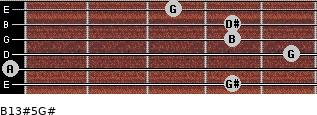 B13#5/G# for guitar on frets 4, 0, 5, 4, 4, 3