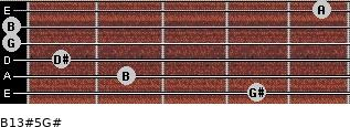 B13#5/G# for guitar on frets 4, 2, 1, 0, 0, 5