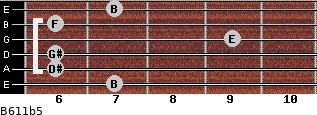 B6/11b5 for guitar on frets 7, 6, 6, 9, 6, 7