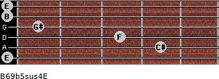 B6/9b5sus4/E for guitar on frets 0, 4, 3, 1, 0, 0