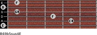 B6/9b5sus4/E for guitar on frets 0, 4, 3, 1, 0, 1