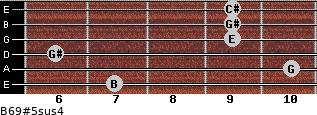 B6/9#5sus4 for guitar on frets 7, 10, 6, 9, 9, 9