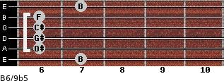 B6/9b5 for guitar on frets 7, 6, 6, 6, 6, 7