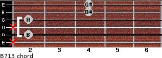 B7/13 for guitar on frets x, 2, x, 2, 4, 4