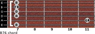 B-7/6 for guitar on frets 7, 11, 7, 7, 7, 7