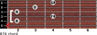 B-7/6 for guitar on frets x, 2, 4, 2, 3, 4