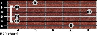 B7/9 for guitar on frets 7, 4, 4, 8, 4, 5