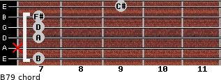 B-7/9 for guitar on frets 7, x, 7, 7, 7, 9