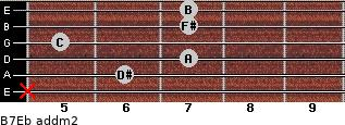 B7/Eb add(m2) guitar chord
