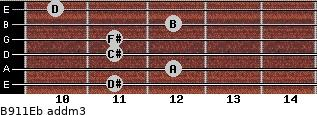 B9/11/Eb add(m3) guitar chord