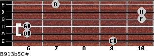 B9/13b5/C# for guitar on frets 9, 6, 6, 10, 10, 7