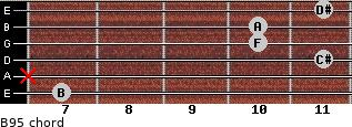 B9(-5) for guitar on frets 7, x, 11, 10, 10, 11