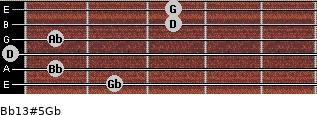 Bb13#5/Gb guitar chord