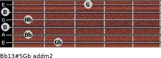 Bb13#5/Gb add(m2) guitar chord