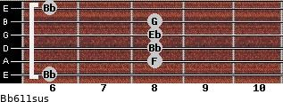 Bb6/11sus guitar chord