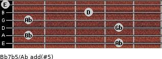 Bb7b5/Ab add(#5) guitar chord