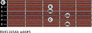 Bb9/11b5/Ab add(#5) guitar chord