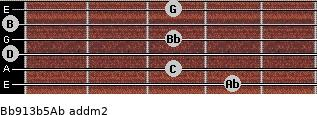Bb9/13b5/Ab add(m2) guitar chord