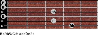 Bb9b5/G# add(m2) guitar chord