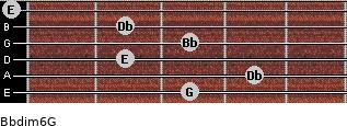 Bbdim6/G for guitar on frets 3, 4, 2, 3, 2, 0