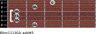 Bbm11/13/Gb add(#5) guitar chord