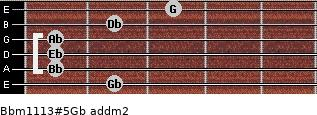 Bbm11/13#5/Gb add(m2) guitar chord