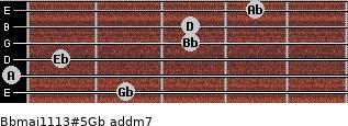 Bbmaj11/13#5/Gb add(m7) for guitar on frets 2, 0, 1, 3, 3, 4