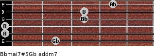 Bbmaj7#5/Gb add(m7) guitar chord