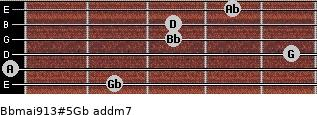 Bbmaj9/13#5/Gb add(m7) guitar chord