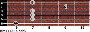 Bm11/13/Bb add(7) guitar chord
