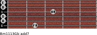 Bm11/13/Gb add(7) guitar chord