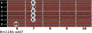 Bm11/Bb add(7) guitar chord