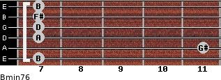 Bmin7/6 for guitar on frets 7, 11, 7, 7, 7, 7