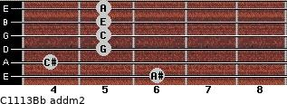 C11/13/Bb add(m2) guitar chord