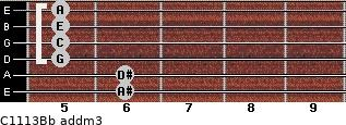 C11/13/Bb add(m3) guitar chord