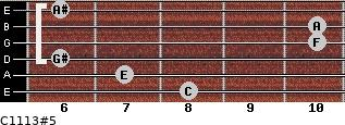C11/13#5 for guitar on frets 8, 7, 6, 10, 10, 6
