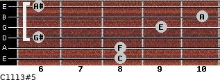 C11/13#5 for guitar on frets 8, 8, 6, 9, 10, 6