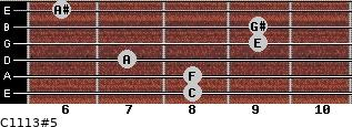 C11/13#5 for guitar on frets 8, 8, 7, 9, 9, 6