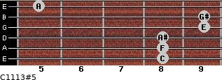 C11/13#5 for guitar on frets 8, 8, 8, 9, 9, 5