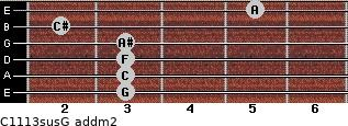 C11/13sus/G add(m2) guitar chord