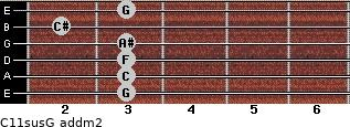 C11sus/G add(m2) guitar chord