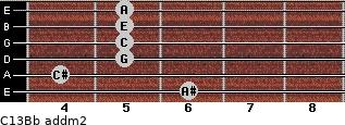 C13/Bb add(m2) guitar chord