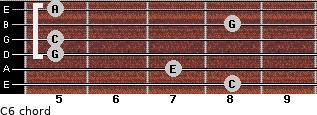 C6/ for guitar on frets 8, 7, 5, 5, 8, 5