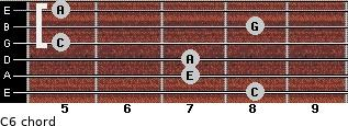 C6/ for guitar on frets 8, 7, 7, 5, 8, 5