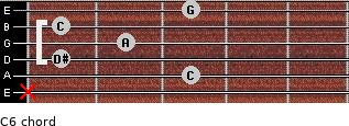 C-6 for guitar on frets x, 3, 1, 2, 1, 3