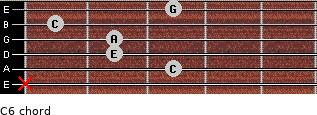 C6/ for guitar on frets x, 3, 2, 2, 1, 3